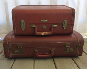 Vintage Leather Hardside Suitcase