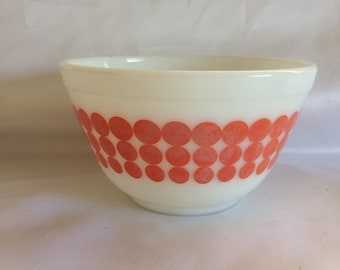 Vintage Pyrex Orange Dots 401 Mixing Bowl