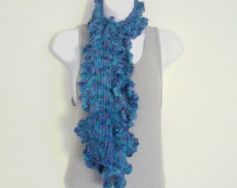 Ruffle Edge Scarf or Scarflet Knitting Pattern - Sell The Scarves You Make - PDF Download