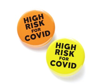 Human Rights Immunocompromised pin badge button Suppressed Immune System pinback or magnet