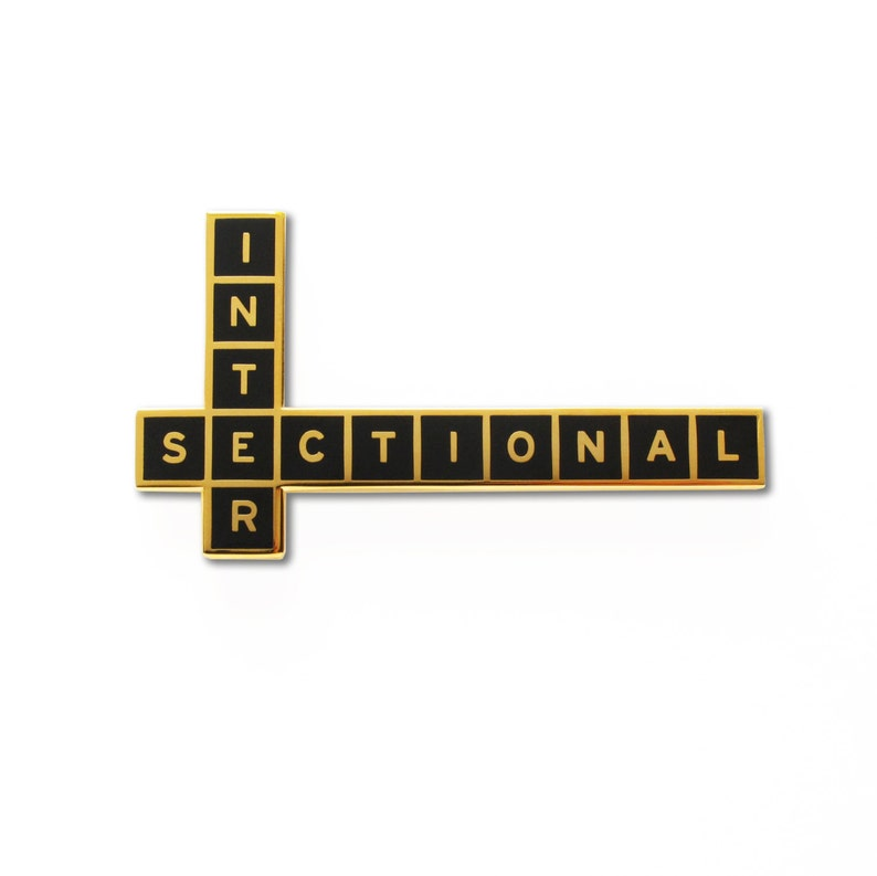 INTERSECTIONAL Feminist  Enamel Lapel Pin image 0