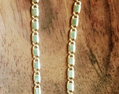 14K Chainlink Dangle Earr...