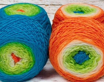 """Sock Twins """" More Than A Fish, More Than A Man """" - Lleaf Handpainted Gradient Sock Yarn Set"""