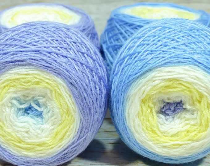 "Full "" Wynken, Blynken & Nod "" - Lleaf Handpainted Gradient Fingering Weight Yarn"
