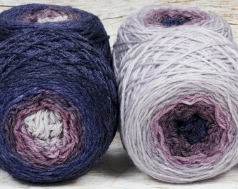 "Sock Twins "" Dusk "" - Lleaf Handpainted Gradient Sock Yarn Set"