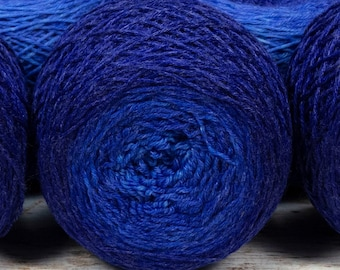 "Full "" Cobalt Glass "" - Lleaf Handpainted Gradient Fingering Weight Yarn"