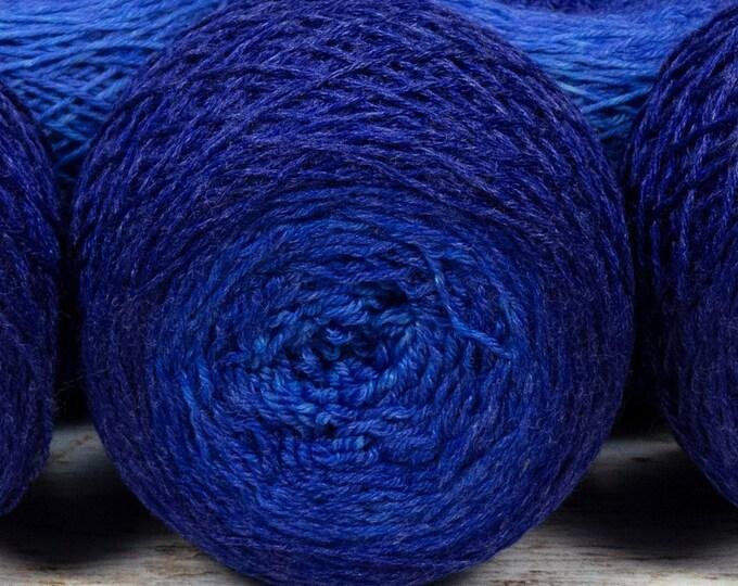 "Full "" Cobalt Glass "" - Lleaf Handpainted Gradient Fingering Weight Yarn"