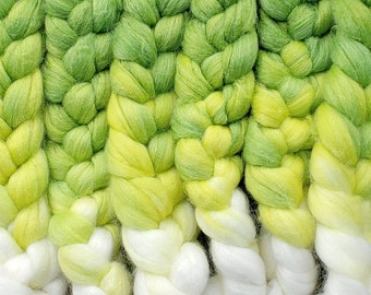 Sprout / Lleaf Handpainted SW Merino-Bamboo-Nylon Combed Top/ 4 oz.