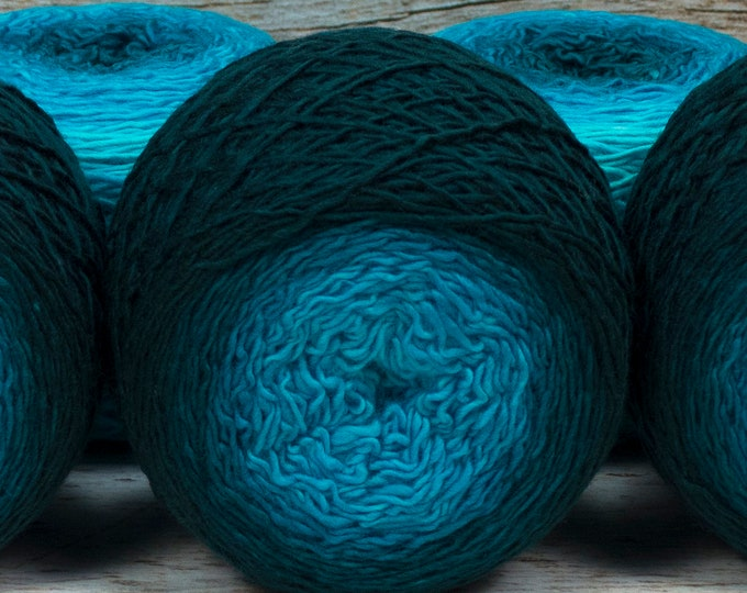 "Full "" Undine "" - Llift Handpainted Gradient Single Ply Fingering Weight Yarn"