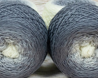 "Full "" Crone "" - Lleaf Handpainted Gradient Fingering Weight Yarn"
