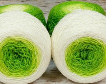 """Full """" Sprout """" - Lleaf SW Merino/Nylon Handpainted Gradient Fingering Weight Yarn 100g Skein"""