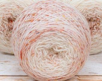 "Full "" Heirloom Rose "" - Llark Handpainted Gradient Speckle Fingering Weight Yarn"