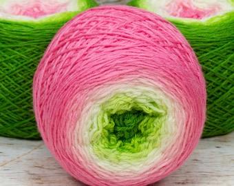 "Full "" Frog Princess "" - Lleaf SW Merino/Nylon Handpainted Gradient Fingering Weight Yarn 100g Skein"