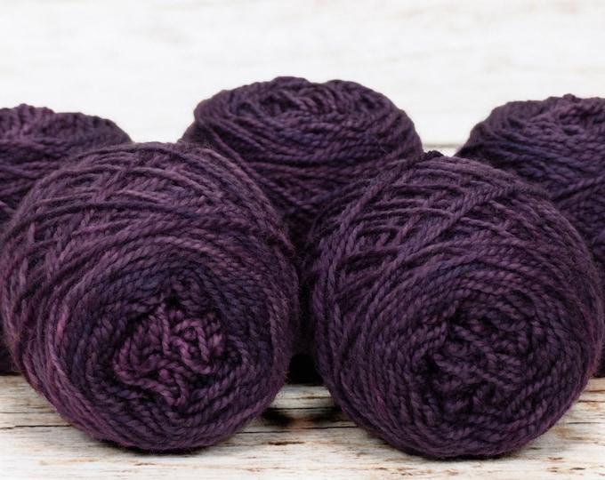 "Wee "" Evil Stepmother Purple "" -Lleap Handpainted Semisolid Fingering Weight Yarn Mini Skein"