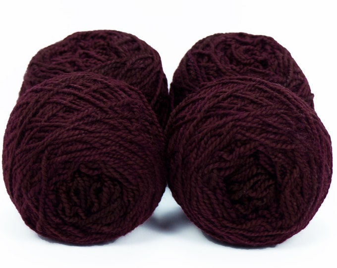 "Wee "" Dark Starlord Red "" -Lleap Handpainted Semisolid Fingering Weight Yarn Mini Skein"
