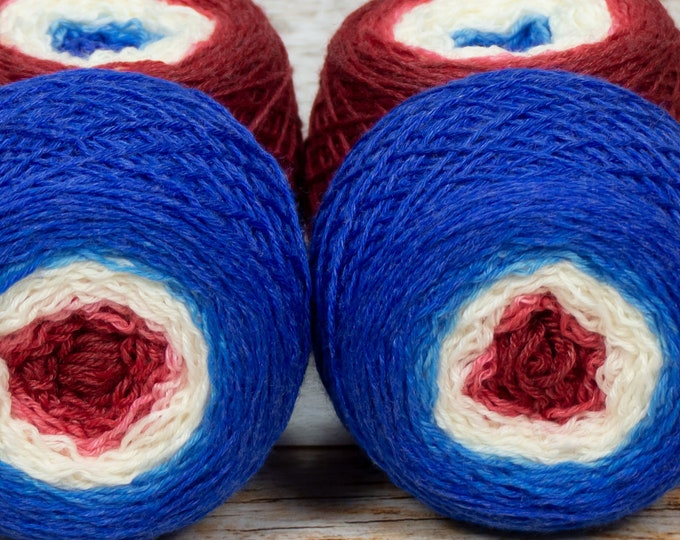 "Full "" As Wise As Athena "" - Lleaf SW Merino/Bamboo/Nylon Handpainted Gradient Fingering Weight Yarn 100g Skein"