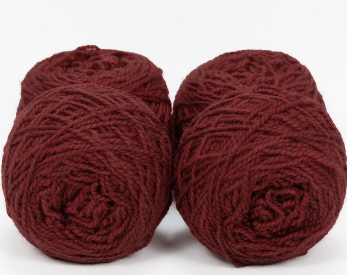 "Wee "" Vulpine Red "" -Lleap Handpainted Semisolid Fingering Weight Yarn Mini Skein"