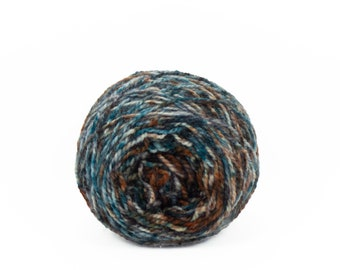 "Wee "" Verdigris "" Llark Handpainted Speckle Dyed Fingering Weight Yarn Mini Skein"