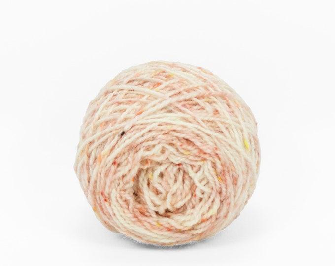"Wee "" Heirloom Rose "" 20g Llark SW BFL/Nylon Speckle Dyed Fingering Weight Yarn Mini Skein"