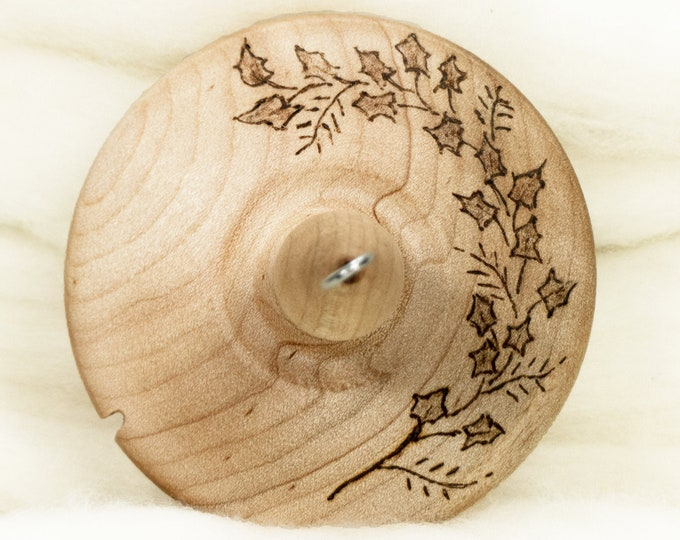 Evergreen - Llampetia Hand-Turned Maple Wood Drop Spindle Heavyweight - Top Whorl 50 Grams