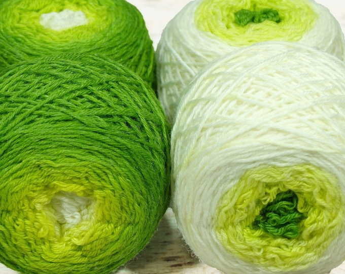 "Sock Twins "" Sprout "" - Lleaf Handpainted Gradient Sock Yarn Set"