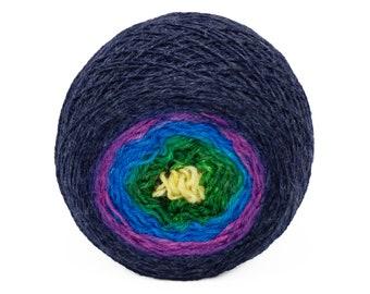 """Full """" Mermaid Scales """" - Lleaf SW Merino/Nylon Handpainted Gradient Fingering Weight Yarn 100g Skein"""