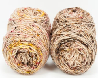"""Wee """" Fall Foliage """" Llark Handpainted Speckle Dyed Fingering Weight Yarn Mini Skein"""