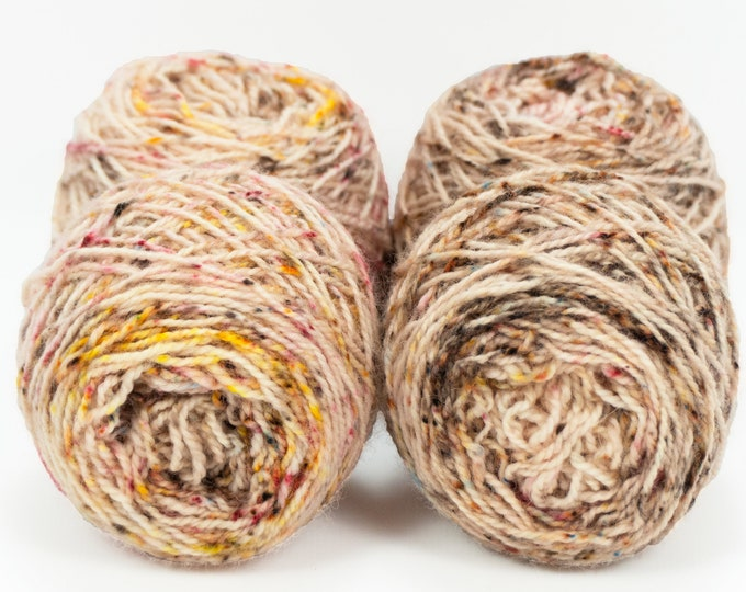 "Wee "" Fall Foliage "" Llark Handpainted Speckle Dyed Fingering Weight Yarn Mini Skein"