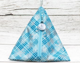 Notion - Snowflake Plaid - Llexical Notions Pouch - Knitting, Crochet, Spinning Accessory Bag