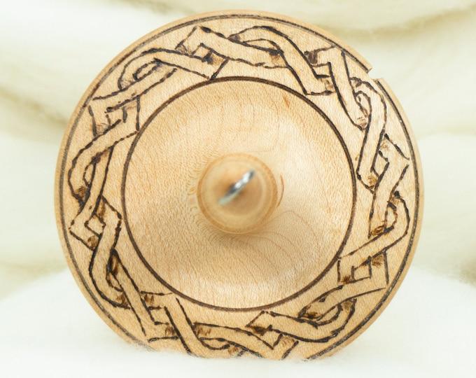 Knotwork - Llampetia Hand-Turned Maple Drop Spindle- Top Whorl 49 Grams