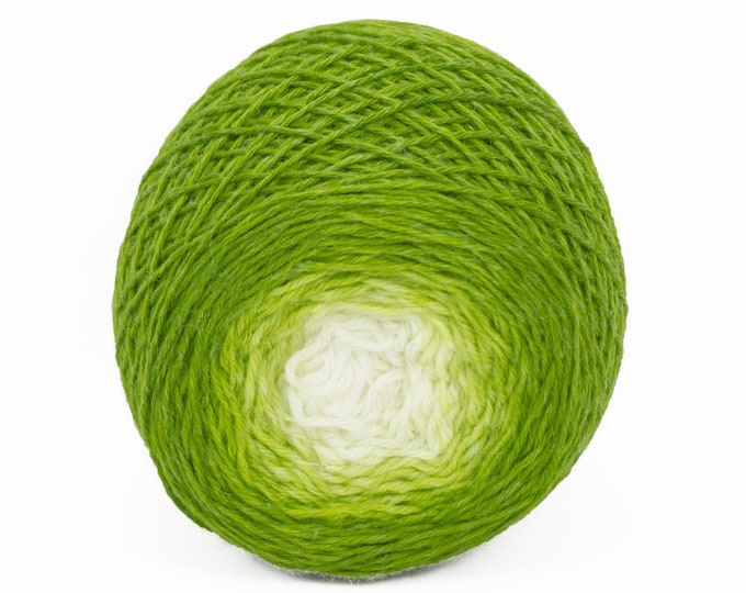 "Full "" Sprout "" - Lleaf Handpainted Gradient Fingering Weight Yarn"