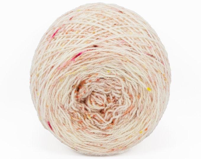 "Full "" Heirloom Rose "" - Llark SW BFL/Nylon Speckle Gradient Fingering Weight Yarn 100g Skein"