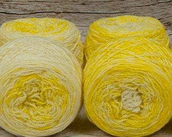 """Fraternal Sock Twins """" Rhiannon """" - Llark Handpainted Gradient Speckle Sock Yarn Set"""