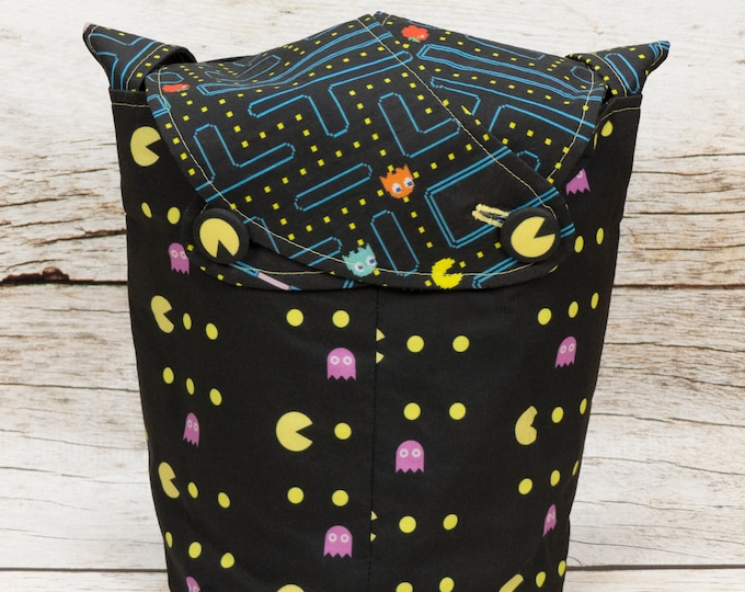 Waka Waka -Small Llayover Knitting Tote/ Knitting, Spinning, Crochet Bag