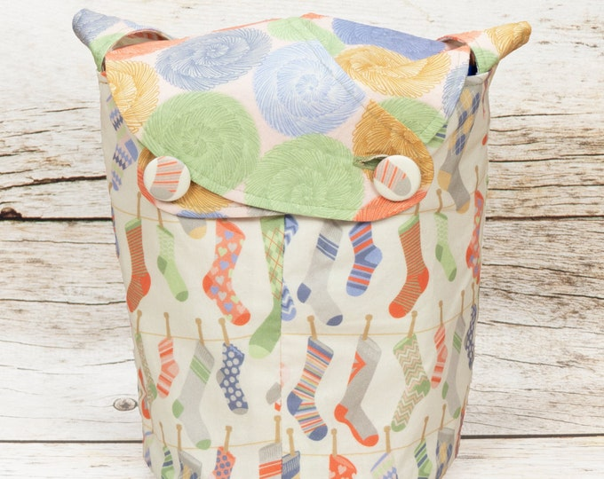 Sock Yarn -Small Llayover Knitting Tote/ Knitting, Spinning, Crochet Bag