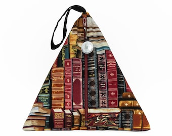 Gilded Bookshelf - Llexical Divided Sock Pouch - Knitting, Crochet, Spinning Project Bag