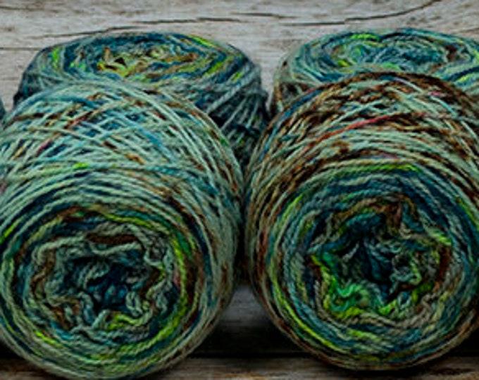 "Fraternal Sock Twins "" Urban Decay "" - Llark Handpainted Gradient Speckle Sock Yarn Set"