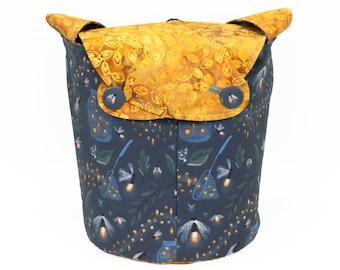 Catching Fireflies - Medium Llayover Knitting Tote / Knitting, Spinning, Crochet Project Bag