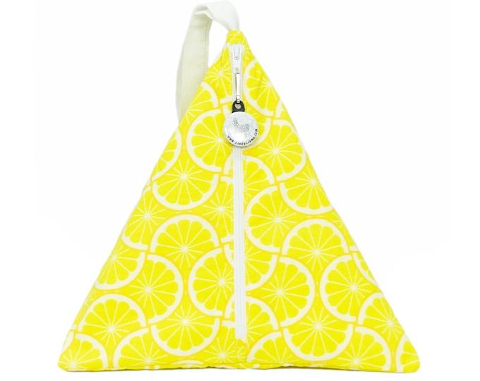 Lemonade  - Llexical Divided Sock Pouch - Knitting, Crochet, Spinning Project Bag