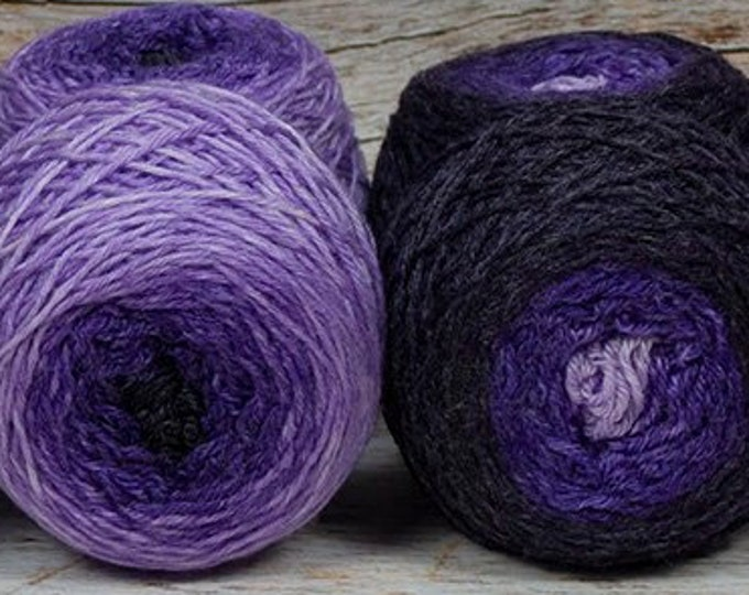 "Sock Twins "" Lavendula "" - Lleaf Handpainted Gradient Sock Yarn Set"