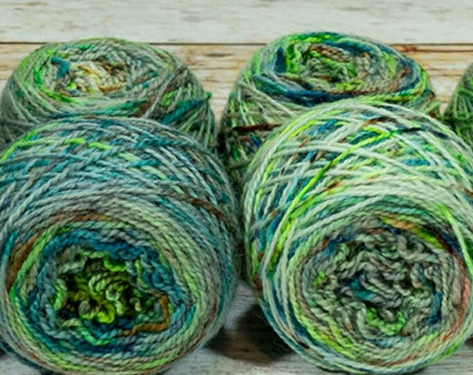"Fraternal Shorty Sock Twins "" Urban Decay "" - Llark SW BFL/Nylon Speckle Gradient Sock Yarn Set"