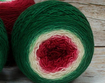 "Full "" Holly King "" - Llift Handpainted Gradient Single Ply Fingering Weight Yarn"