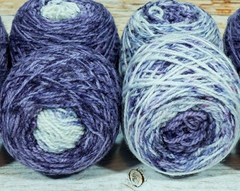 "Fraternal Shorty Sock Twins "" Midnight Hour "" - Llark Handpainted Gradient Speckle Sock Yarn Set"