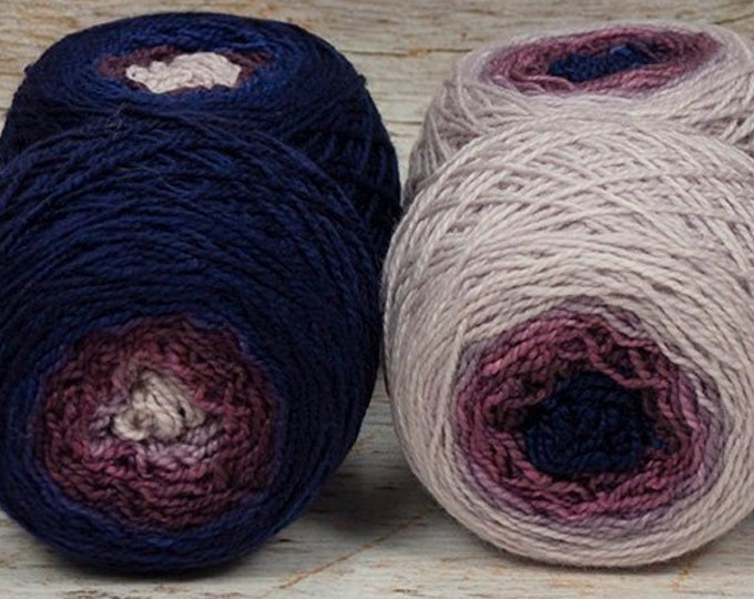 "Sock Twins "" Dusk "" -Lleap Handpainted Gradient Sock Yarn Set"