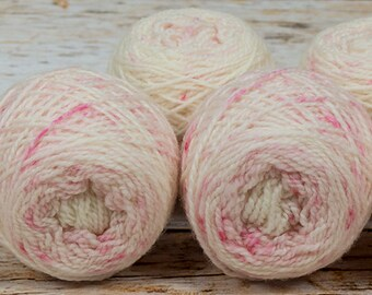 "Wee "" Cherry Blossom "" Llark Handpainted Speckle Dyed Fingering Weight Yarn Mini Skein"