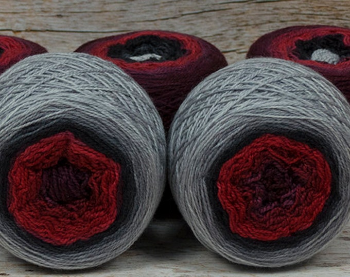 """Full """" Starlord """" -Lleap Handpainted Gradient Fingering Weight Yarn"""