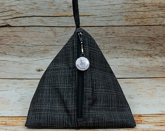 Coal Woven - Llexical Notions Pouch - Knitting, Crochet, Spinning Accessory Bag