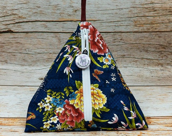 Japanese Garden - Llexical Notions Pouch - Knitting, Crochet, Spinning Accessory Bag