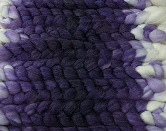 Lightning Strike! / Lleaf Handpainted SW Merino-Bamboo-Nylon Combed Top/ 4 oz.