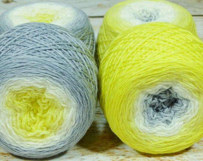 "Full "" Sylph "" - Lleaf Handpainted Gradient Fingering Weight Yarn"